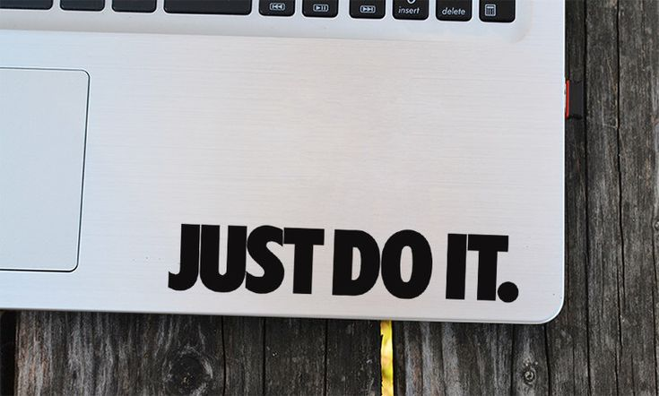 Just do it Decal, Motivational decal, Macbook Decal, Wall Sticker, Car Decal, Iphone Decal, Positive Quote Sticker, Inspirational decal by EasyDecal on Etsy https://www.etsy.com/listing/279562010/just-do-it-decal-motivational-decal