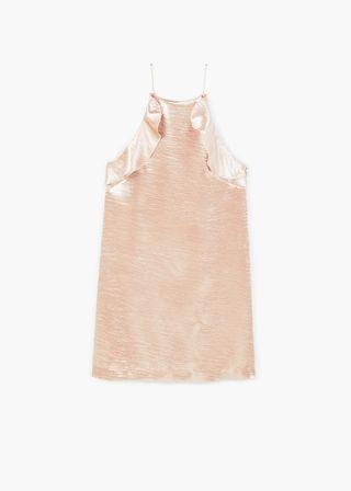 Ruffle satin dress | MANGO