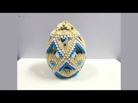 How to make 3d origami lamp 4 - YouTube