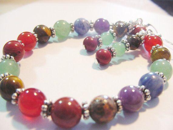 Chakra Bracelet & Earrings Chakra Balancing by CherylsHealingGems