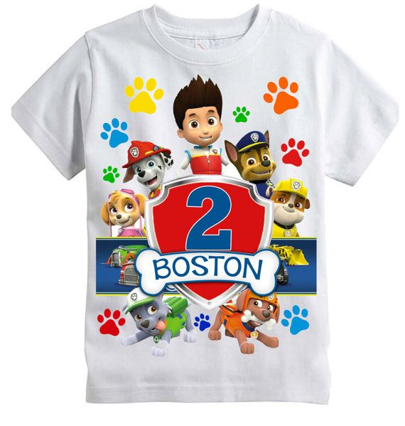 Paw Patrol Birthday Shirt -- Personalized with any NAME and NUMBER! | paw patrol bday ...