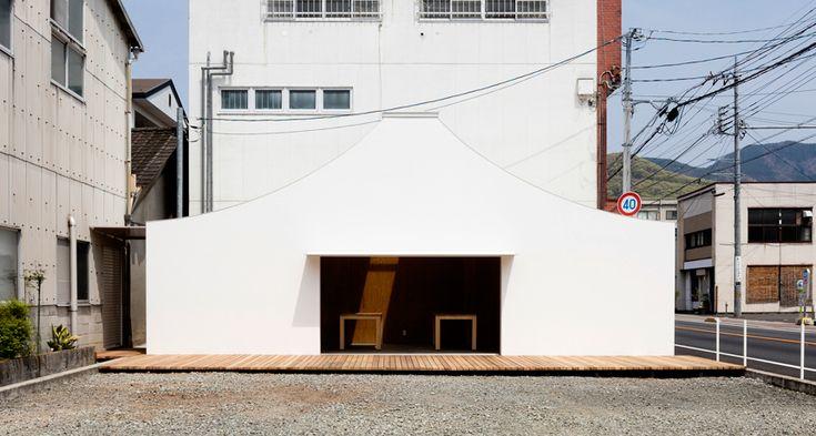 建物のコンセプトは、山梨・五味醤油のロゴマークをモチーフに。まるで富士山? 山梨  建築 リノベーション イベントスペース yamanashi architecture favorite places