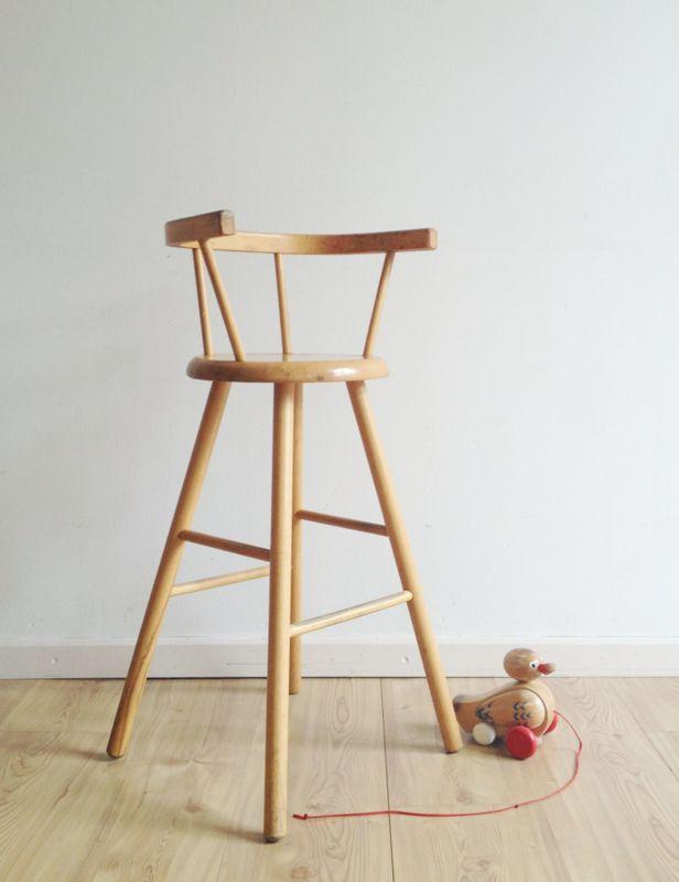 Hoge Stoel Peuter.Houten Vintage Kinderstoel Kibofa Hoge Retro Stoel Voor Kids