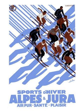 Alpes Jura vintage ski poster