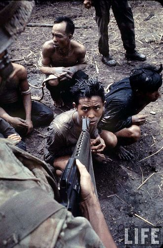 viet cong | ... Viet Cong prisoners rounded up in South Vietnam, by Larry Burrows
