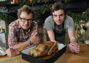 RECIPE: roast goose with roast roots, apple sauce and gravy