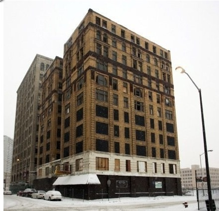 the charlevoix will be razed to put in a parking lot. detroit.