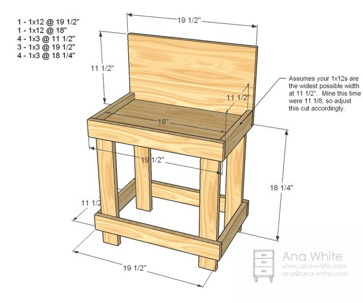 Ana White Build A Toy Workbench Free And Easy Diy