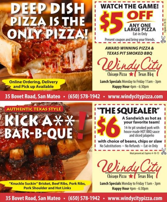We're down to the Final Four! Join us tomorrow as we cheer on these College basketball superstars! Duke Blue Devils Athletics vs Michigan State Spartans battle it out at 3:09pm, followed by the Kentucky Wildcats vs Wisconsin Badgers at 5:49. Bring your friends, an appetite, and print out these coupons to $ave some dough!