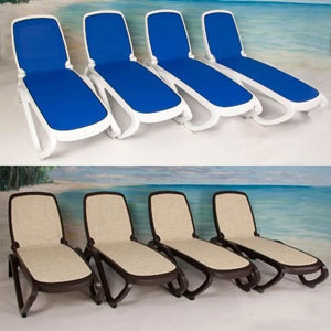 Omega Commercial Lounger 4-Pack by Nardi®