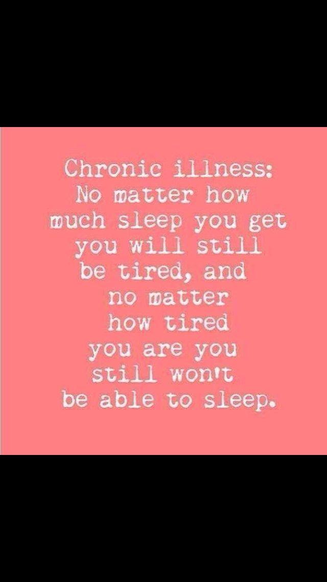 Fibromyalgia, chronic illness, get enough sleep