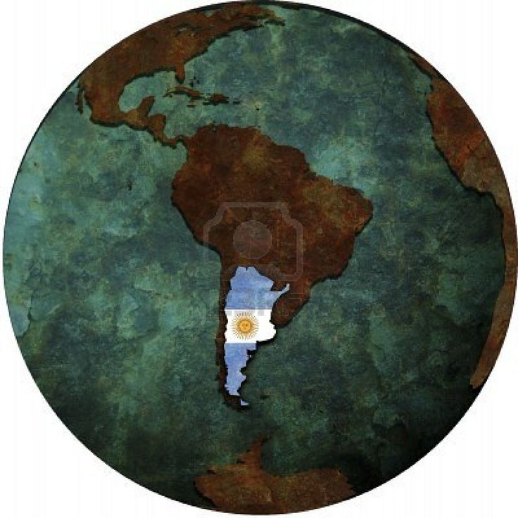 Aquí está Argentina. Es un país grande. Está en América latina.