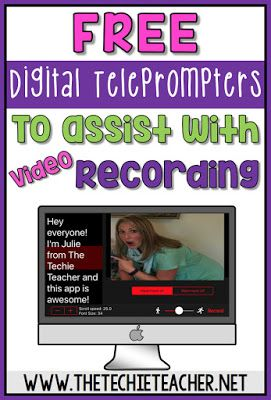 Free digital teleprompters (websites & apps) to assist with video recording when…