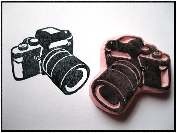 Loving this camera stamp from SweetSpotStampShop on @Etsy.  $6.50