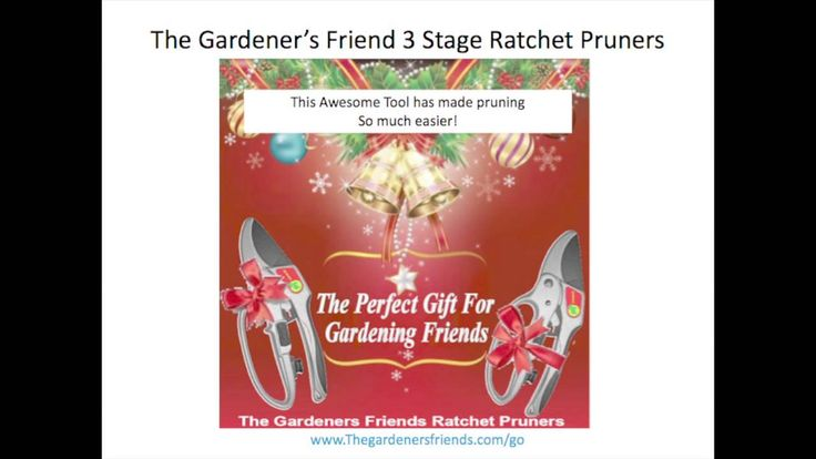 Ratchet Pruners - Fantastic Holiday Gift http://youtu.be/xbutoF3lBDI
