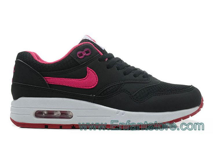 new product 48cae 07ee4 ... Store Nike Wmns Air Max 1 Essential Gs Chaussures Pour Femme Noir Rose  boutiquetn360