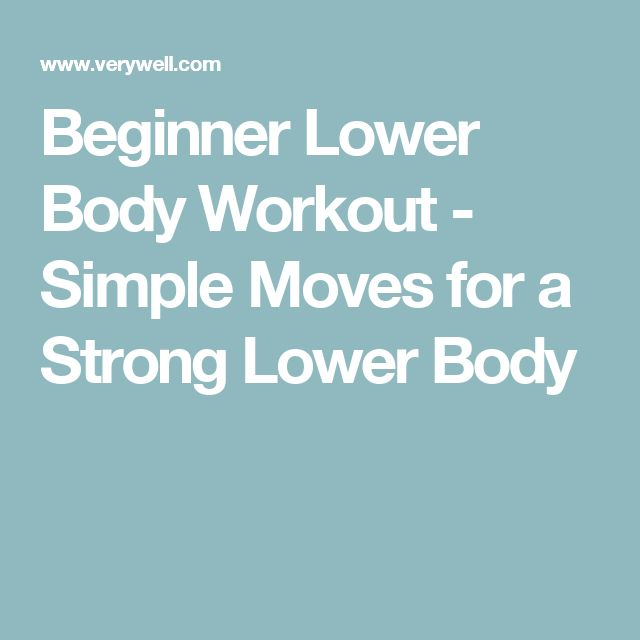 Beginner Lower Body Workout - Simple Moves for a Strong Lower Body