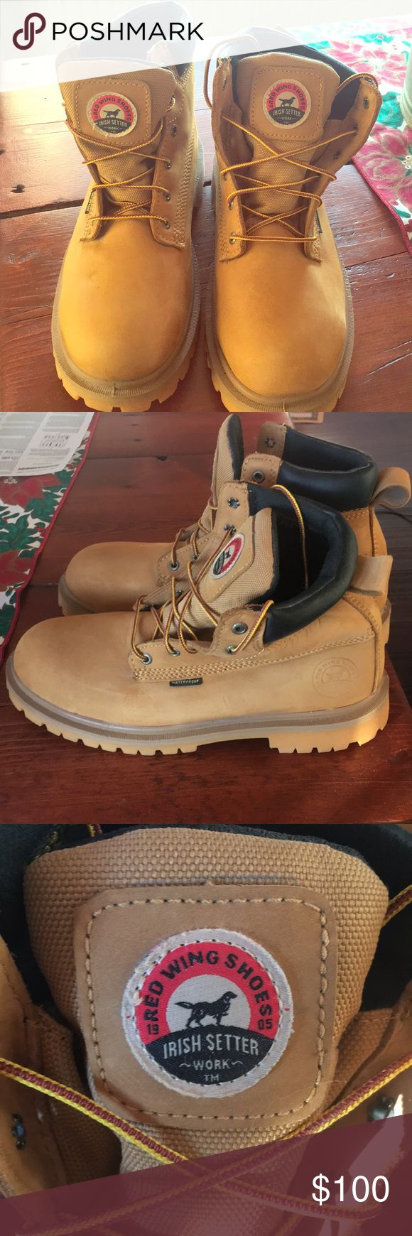 Red Wing Irish Setter Work boots sz 9.5 Men's Never worn. NWOT Red Wing Men 9.5 Water proof and 400 gram insulation. Red Wing Shoes Shoes Boots
