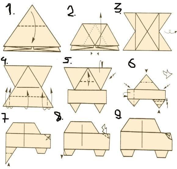 car origami - Google Search