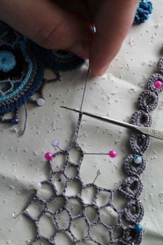excellent photo tutorial ~ irish crochet webbing by mvaleria