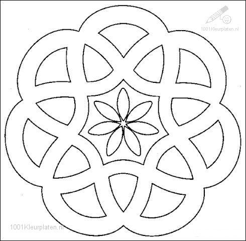 easy mandalas to color | Fantasie >> Mandala >> Kleurplaat Mandala