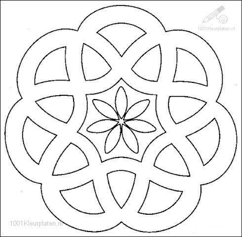 easy mandalas to color | Fantasie >> Mandala >> Kleurplaat Mandala