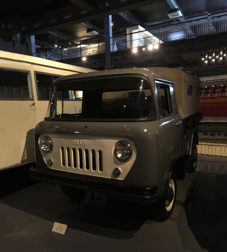 A 1958 Jeep Pick up FC 150, is among the pickup trucks produced by Jeep Company continuously from 1947 to 1992! #heritagetransportmuseum #museum #htm #vintagecollection #vintagevehicle #jeep #classiccollection #gurugram #manesar