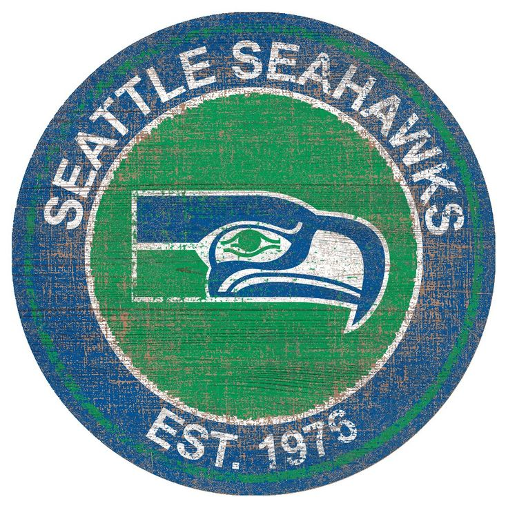 NFL Seattle Seahawks Heritage Logo 24 Round Sign