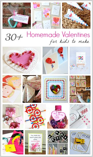 30+ Creative Homemade Valentines for Kids to Make (with FREE printables)