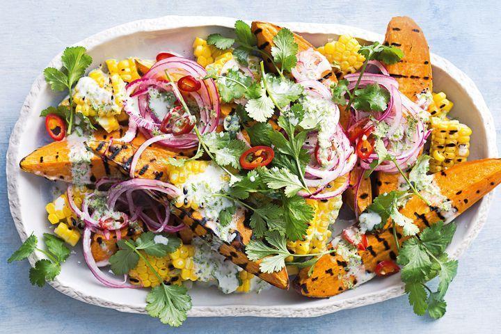 Sweet potato and corn salad
