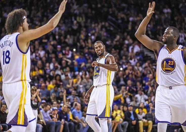 October 4, 2016 -- Playing at Oracle Arena for the first time this preseason, the Warriors got the home crowd on their feet early and often as the Dubs built an insurmountable lead in the first half and carried it to a 120-75 victory over the Clippers on Tuesday night. Klay Thompson led all scorers with 30 points on 14 shots, including six three-pointers, while Kevin Durant produced a superb all-around effort, compiling 21 points, seven rebounds, seven assists and two blocks in just 25…