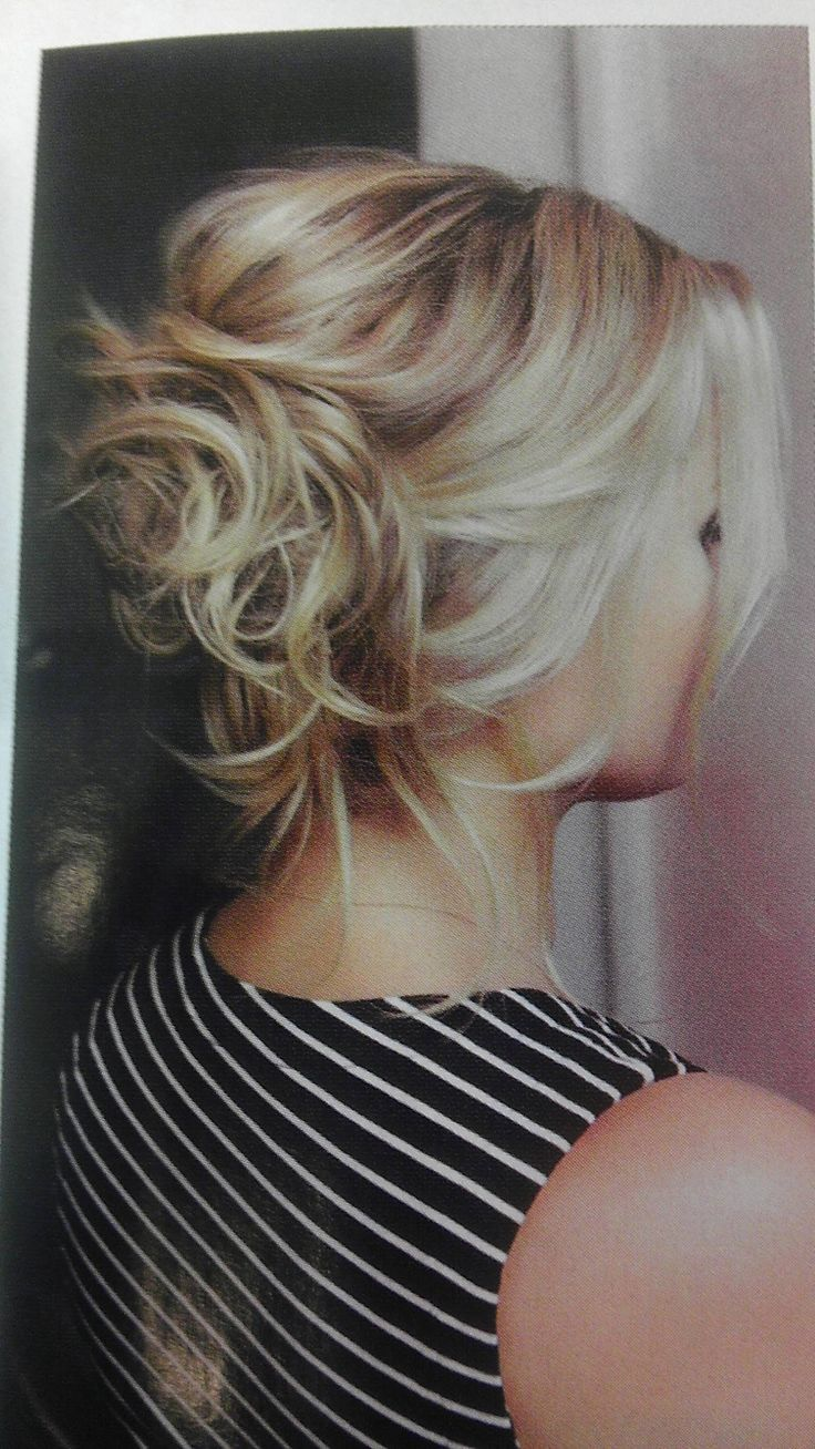 """love this """"messy"""" curled updo."""