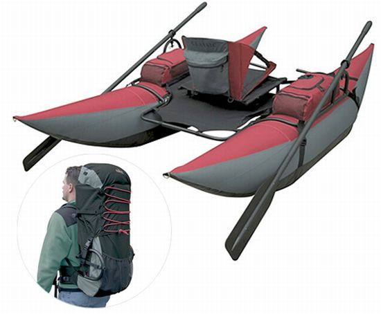 The Backpack Inflatable Pontoon Boat: Stylish, portable and durable