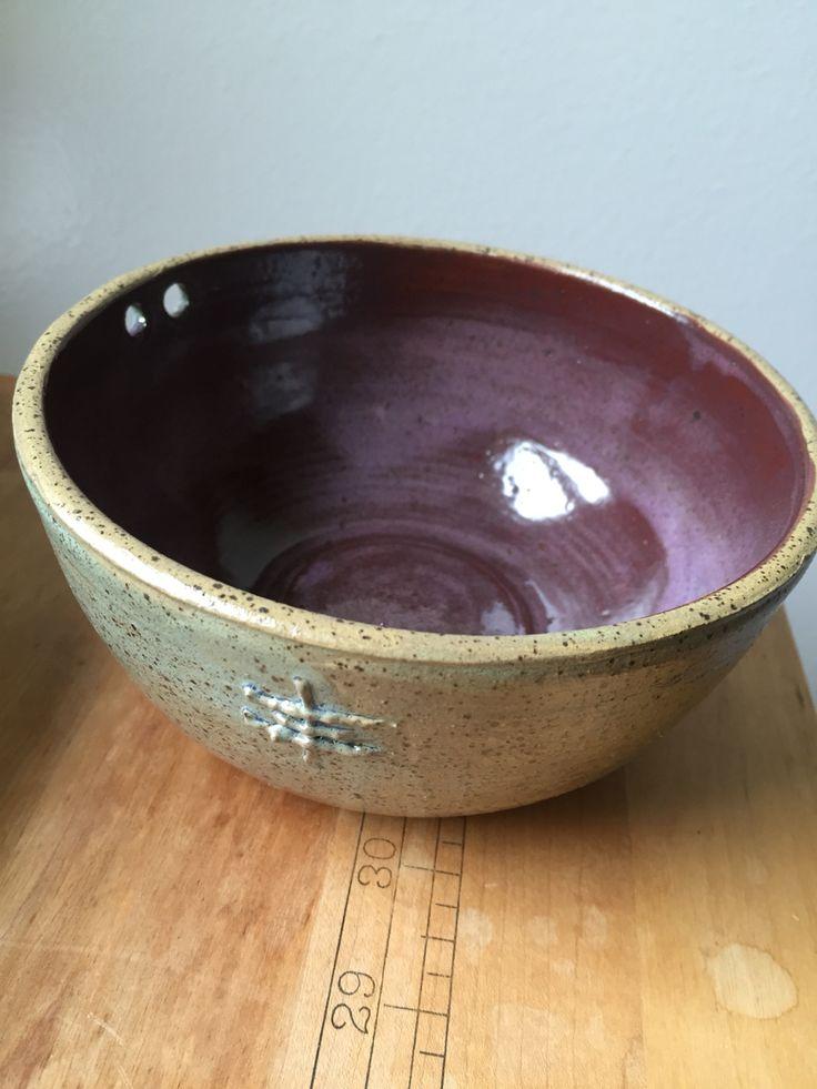 Plenty bowl. Smoky merlot/ frosted turquoise