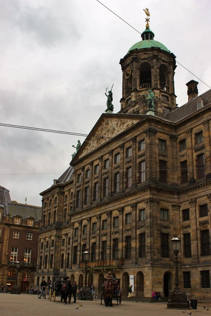 One day in Amsterdam self-guided walking tour - sight 4: the Royal Palace on Dam Square.