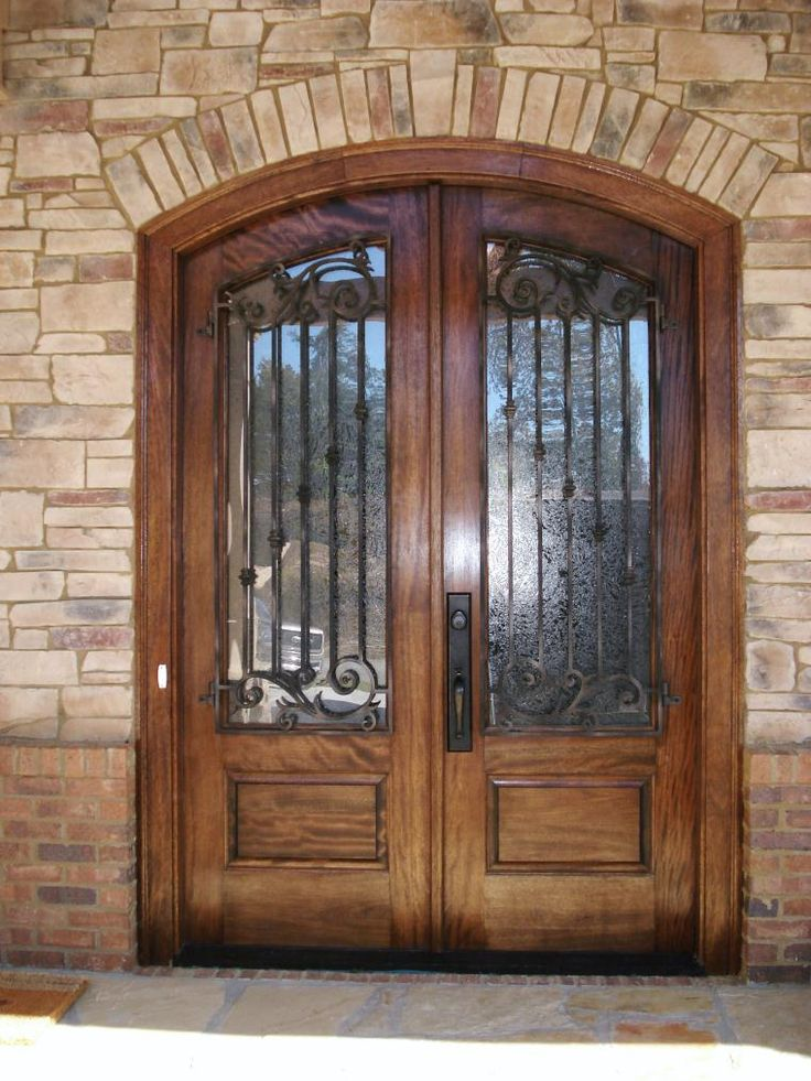 Check out this beautiful arch top mahogany door | Dream ...