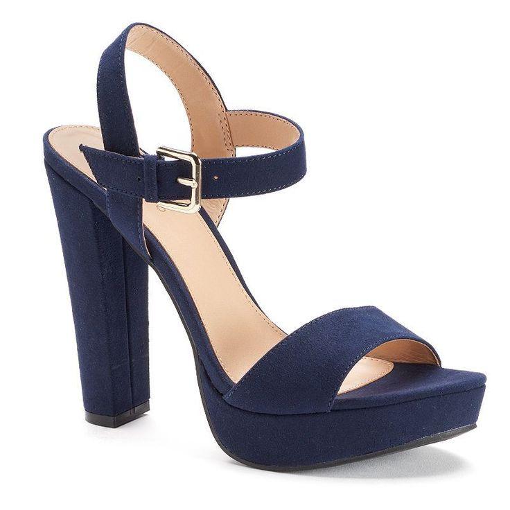 LC Lauren Conrad Womens Platform High Heel Sandals | Bow