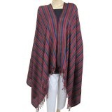 Womens Shawls Pure Wool Wrap in Striped Patterned 84 X 42 Inches (Apparel)By ShalinIndia