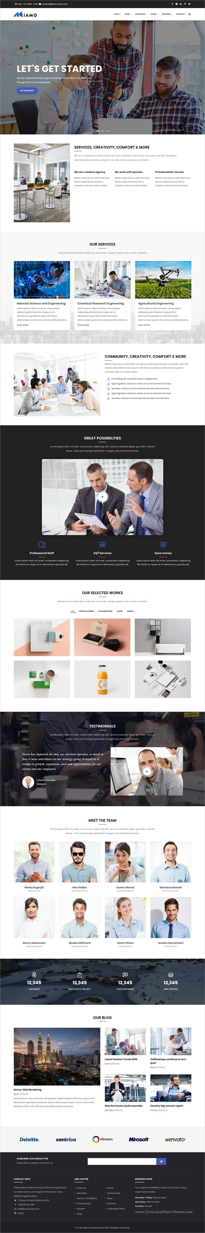 Kiamo is clean and modern #design multipurpose responsive #Drupal theme for #corporate services website with 6 niche homepage layouts download now..