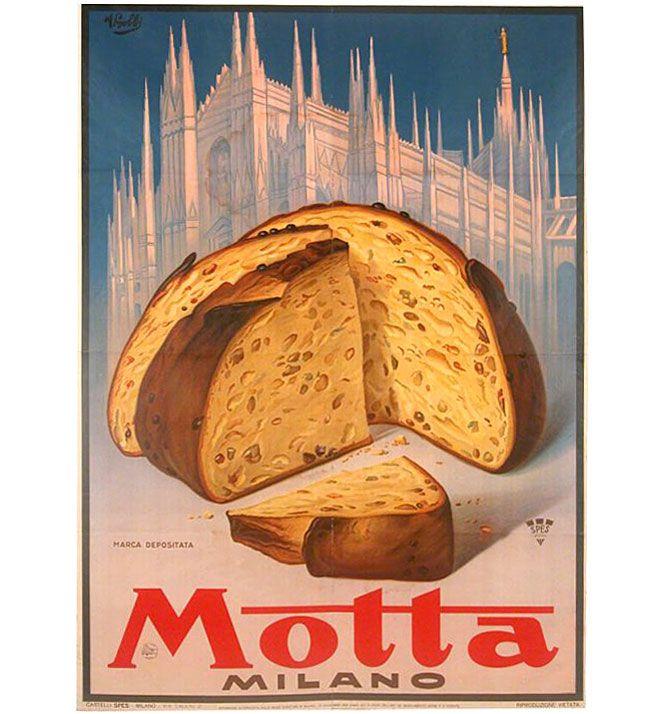 Manifesto pubblicitario Panettone Motta - advertisement poster