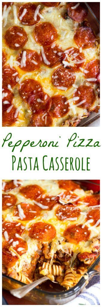 Pepperoni Pizza Pasta Casserole