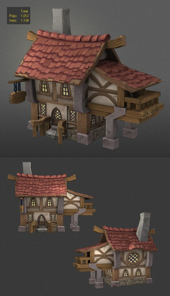 3DOcean low poly wood house 2 6552145