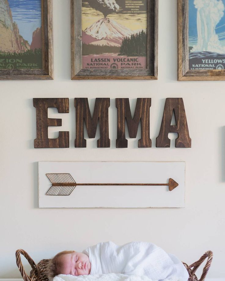 Emma in her National Park themed nursery at two weeks old. This precious baby is going on adventures! We made it to Yellowstone and Glacier National park and are headed to Joshua Tree in November.