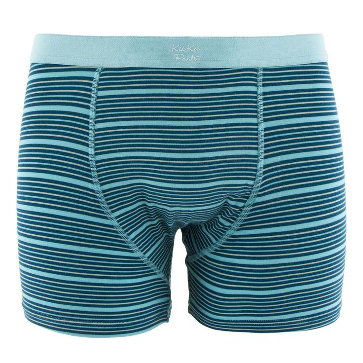 Kickee Pants Print Mens Boxer Brief - Shining Sea Stripe **Pre-Sale** 1st Delivery