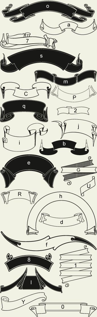 Letterhead Fonts / LHF Americana Ribbons / Decorative Ribbons | by Mike Jackson