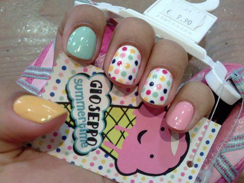 NailsNails Art, Cute Nails, Nails Design, Colors Nails, Polka Dots Nails, Nails Ideas, Pastel Colors, Nails Polish, The Dots