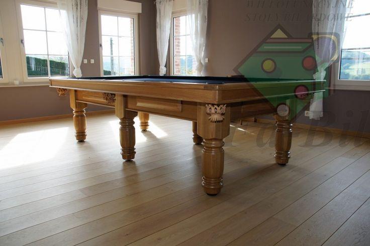 Zdjęcia stołu 9ft Exlusive, stół bilardowy z litego drewna #bilard #pool #snooker #home