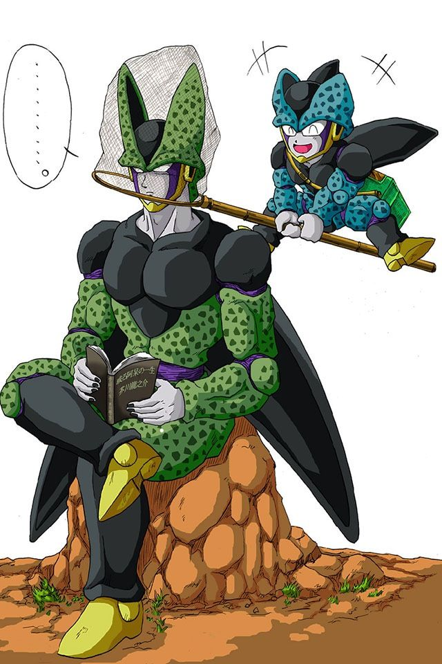 Perfect Cell And Cell Jr Animation Perfect Cell Anime Dbz