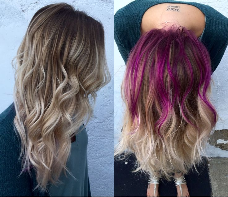 Best 25 peekaboo highlights ideas on pinterest red peekaboo rooty blonde balayage pravana wild orchid peekaboo flashlight redken fall color hidden hair pmusecretfo Gallery