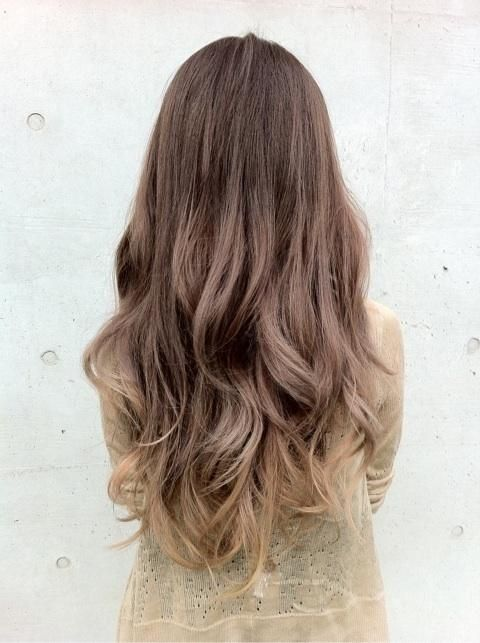 wavy brown to blonde ombre